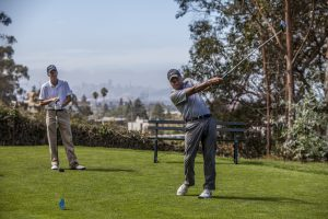 Playing golf at Alameda Health System Foundation's Annual Golf Classic
